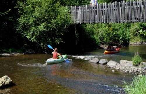 Passage en kayak à Chabrot Montbron