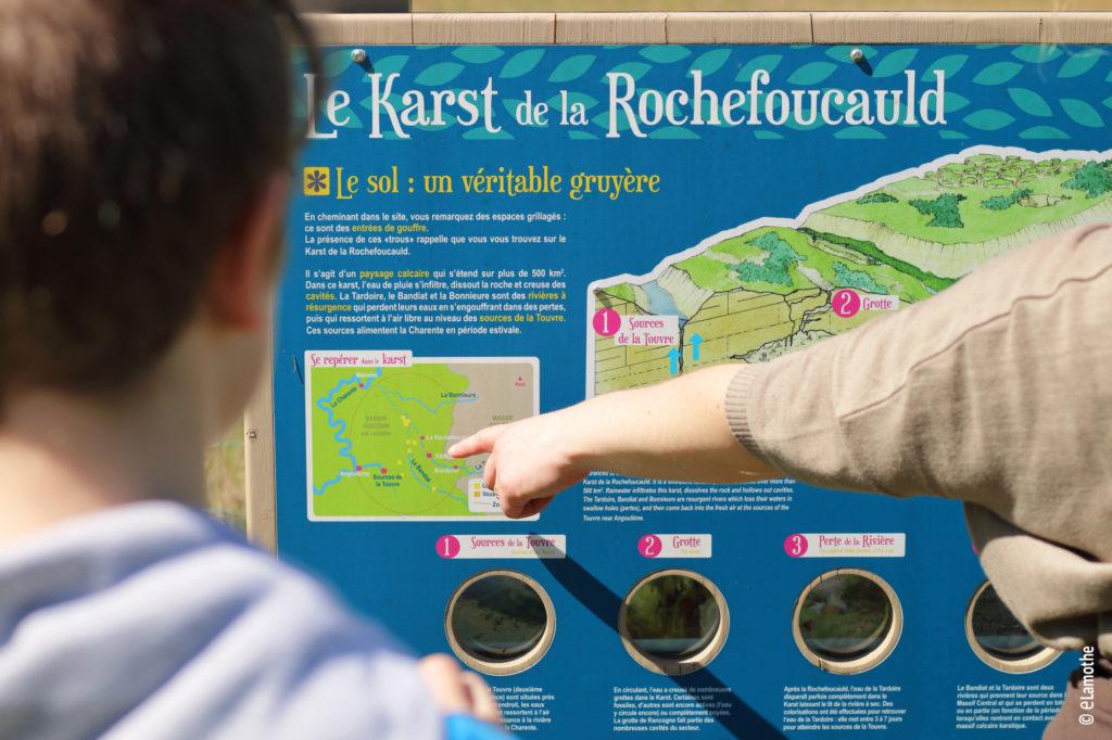Panneau à l'étang de Landaudrie - Moulins-sur-Tardoire
