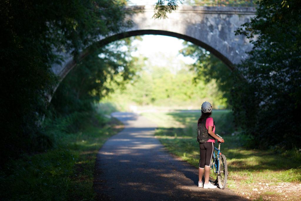 Randonnée à vélo sur la voie verte